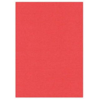 DESIGNER BLÖCKE / DESIGNER PAPER A4 lærred pap, 10 ark, rød
