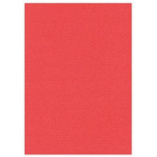 DESIGNER BLÖCKE / DESIGNER PAPER A4 Leinenkarton, 10 Bögen, rot