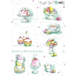 Marianne Design A4 Bilderbogen, Tea for two