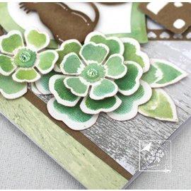 Joy!Crafts / Jeanine´s Art, Hobby Solutions Dies /  Puncionamento e gravação de estêncil: flores com folhas