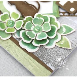 Joy!Crafts / Jeanine´s Art, Hobby Solutions Dies /  Stamping- and pre-template: flowers with leaves