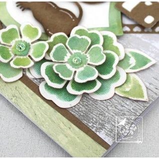 Joy!Crafts / Hobby Solutions Dies pochoir de poinçonnage et gaufrage: fleurs avec des feuilles
