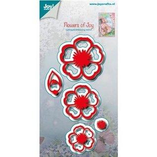 Joy!Crafts / Hobby Solutions Dies Ponsen en embossing stencil: bloemen met bladeren