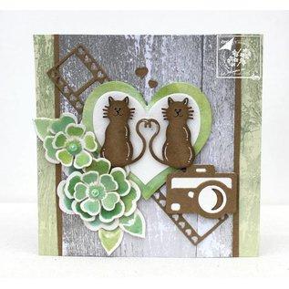 Joy!Crafts / Jeanine´s Art, Hobby Solutions Dies /  Ponsen en embossing stencil: bloemen met bladeren