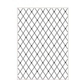 DARICE Embossing folders, A4 kriskras - Slechts 1 op voorraad