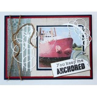 Joy!Crafts / Jeanine´s Art, Hobby Solutions Dies /  Stamping- and pre-template: bubbles border