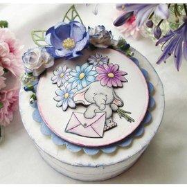Wild Rose Studio`s mis timbre A7 Bella avec des fleurs
