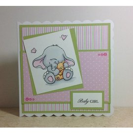Wild Rose Studio`s A7 Stamp Bella with Teddy