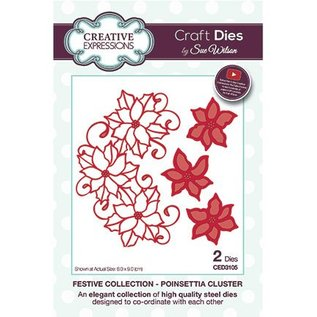 CREATIVE EXPRESSIONS und COUTURE CREATIONS Stanzschablone: Poinsettia Cluster