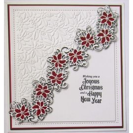 CREATIVE EXPRESSIONS und COUTURE CREATIONS Stamping template: Poinsettia Cluster
