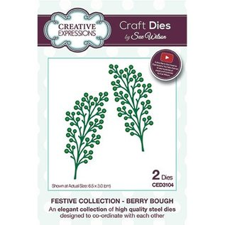 CREATIVE EXPRESSIONS und COUTURE CREATIONS Stamping template: Berry Bough