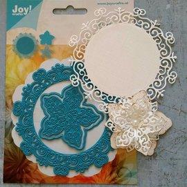 Joy!Crafts Stansning og prægning skabelon: Cirkel med blomster