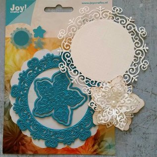 Joy!Crafts / Jeanine´s Art, Hobby Solutions Dies /  Modèle de poinçonnage et gaufrage: Cercle avec fleurs