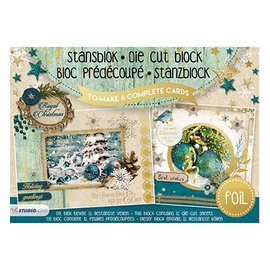 Studio Light Stanzblock A5: Royal Christmas with foil nr.12