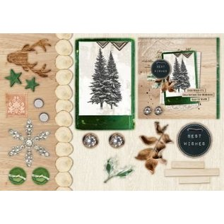Studio Light Stanzblock A5: Woodland Winter with foil nr.07