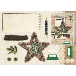Studio Light Punching block A5: Woodland Winter with foil nr.07