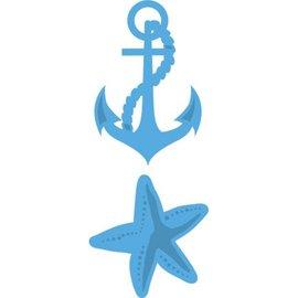 Marianne Design Ponsen sjabloon: Anker en Sterre der Zee