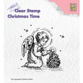 Nellie Snellen Transparent stamp, angel