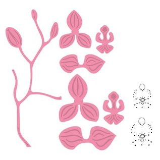 Marianne Design Stamping stencils, Orchid
