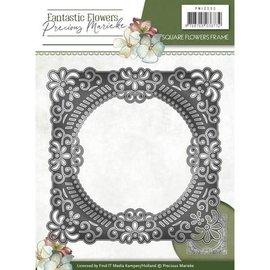 Precious Marieke troqueles de corte, marco decorativo floral