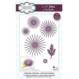CREATIVE EXPRESSIONS und COUTURE CREATIONS Stamping template: Chrysanthemum