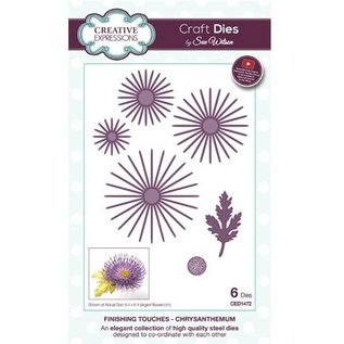 CREATIVE EXPRESSIONS und COUTURE CREATIONS Stanzschablone: Chrysantheme