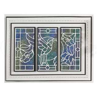 CREATIVE EXPRESSIONS und COUTURE CREATIONS Stansning skabelon: Stained Glass Collection, Hummingbird