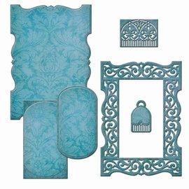 Spellbinders und Rayher Punzonatura modello: cornice decorativa - Solo 1 in magazzino