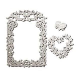 Spellbinders und Rayher Ponsen sjabloon: Rechthoekige sierlijst - slechts 2 in voorraad
