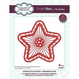 CREATIVE EXPRESSIONS und COUTURE CREATIONS Stamping template: star