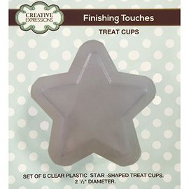CREATIVE EXPRESSIONS und COUTURE CREATIONS Set of 6 plastic semi-stars