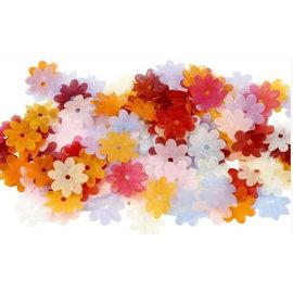 Embellishments / Verzierungen 55 fleurs en organza