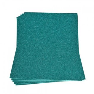 Moosgummi und Zubehör Moosgummiplatte Glitter, 200 x 300 x 2 mm, türkis
