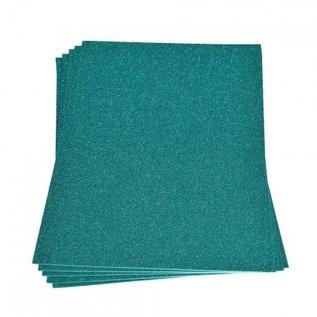 Moosgummi und Zubehör Skumgummiplade Glitter, 200 x 300 x 2 mm, turkis