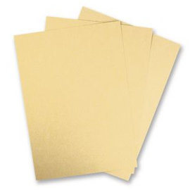 DESIGNER BLÖCKE / DESIGNER PAPER carta metallizzata, 21,3x30cm, 240g / m2, 5 pezzi, oro brillante