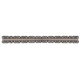 DEKOBAND / RIBBONS / RUBANS ... Organza bånd med ornament kant spids i sort