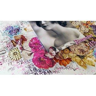 DESIGNER BLÖCKE / DESIGNER PAPER IndigoBlu Floral Fantaisie A6 Mixed Media Card Stack