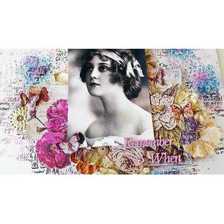 DESIGNER BLÖCKE / DESIGNER PAPER IndigoBlu Floral Fantasy A6 Mixed Media Card Stack