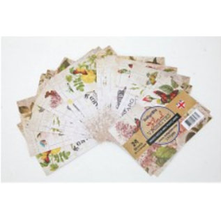 DESIGNER BLÖCKE / DESIGNER PAPER IndigoBlu Floral Vignettes, Mini Postcards Mixed Media Papers