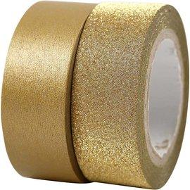 BASTELZUBEHÖR, WERKZEUG UND AUFBEWAHRUNG Motiv tape, W: 15 mm, guld, 2 rolle