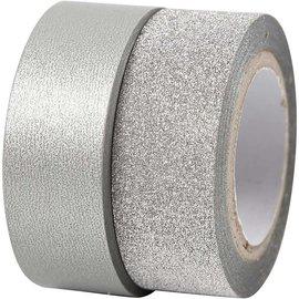 BASTELZUBEHÖR, WERKZEUG UND AUFBEWAHRUNG fita Motif, W: 15 mm, prata, 2 rolos