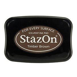 FARBE / STEMPELINK Stazon inchiostro timbro Legname Marrone