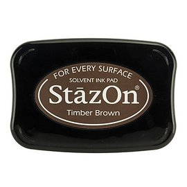 FARBE / STEMPELINK StaZon stamped ink, Timber Brown