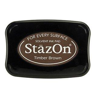 FARBE / STEMPELINK Stazon encre de timbre bois Brown