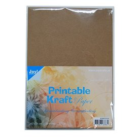 DESIGNER BLÖCKE / DESIGNER PAPER A4 carta kraft stampabile, 175 gr, 25 fogli