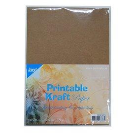 Karten und Scrapbooking Papier, Papier blöcke A4 printable kraftpapir, 175 gr, 25 ark
