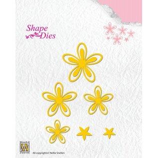 Nellie Snellen Stanzschablone: 4 Blumen