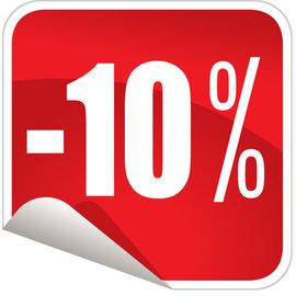 10% rabatt kupong på nyhetsbrev abonnement