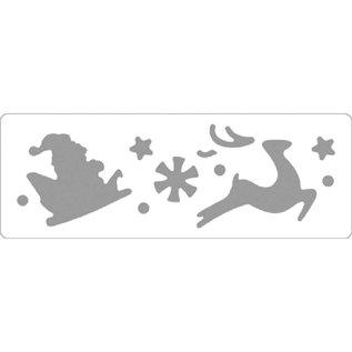Locher / Stanzer Grænser-Punch: Julemanden og rensdyr