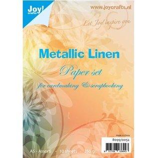 DESIGNER BLÖCKE / DESIGNER PAPER Papierset Metallic linned structure, A5